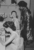 1955 - The Harmonettes backstage